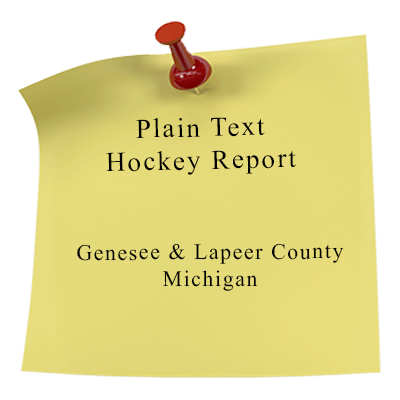 Clear Text Hockey report