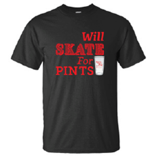 will skate for pints t shirt